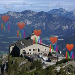 Орлиное гнездо в Альпах. Берхтесгаден, Бавария. Дом Адольфа Гитлера