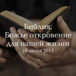Библия - Божье Откровение для нашей жизни