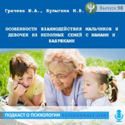 Грачева Ю.А. Особенности взаимодействия мальчиков и девочек из неполных семей с мамами и бабушками