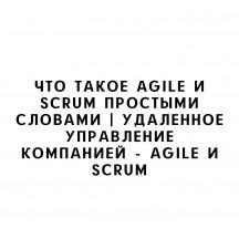 Удаланное управление процессами, компаниями и в целом бизнесом. Эксперт в области удаленного управления расскажет простым языком - что такое Agile и чем поможет Scrum в удаленном управлении бизнеса. Принципы системы Agile.  Простыми словами о системе Agil