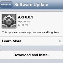 Apple выпустила iOS 6.0.1, нозадержала iTunes11