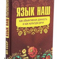 ВП СССР - Язык наш — как объективная данность и как культура речи (гл.3)